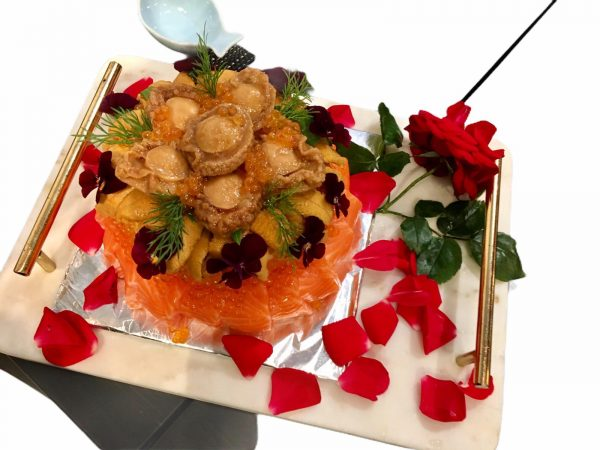 Deluxe Abalone Urchin Cake