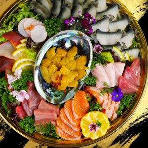 Black Gold Sea Urchin Sashimi Platter
