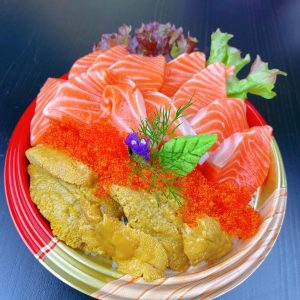 King Salmon With Urchin Rice