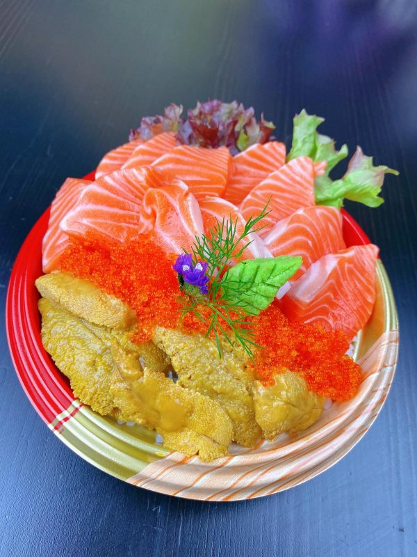 King Salmon With Urchin Rice