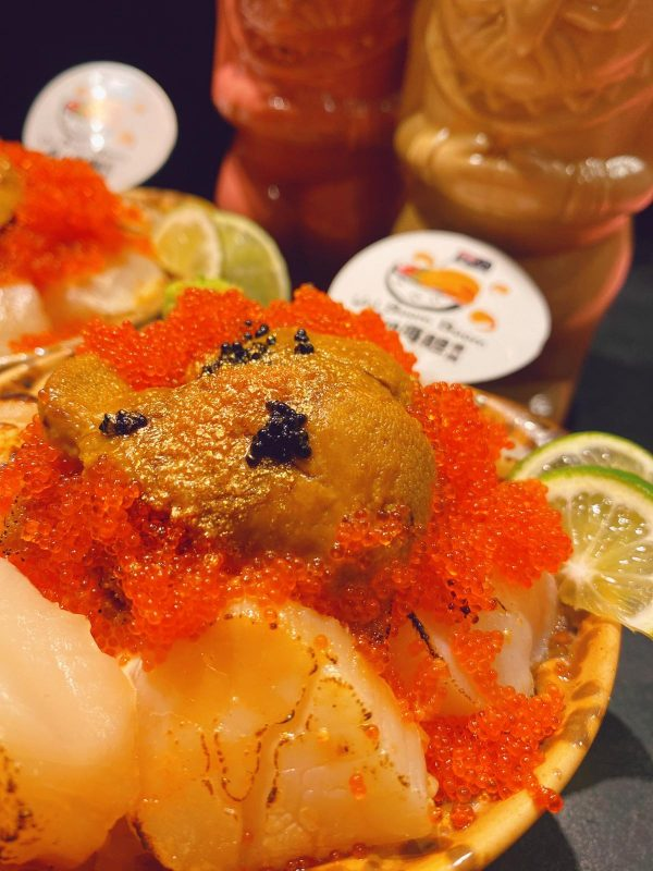 Januray Birthday Special: Grilled Cheesy XL Scallops with Sea Urchin Rice