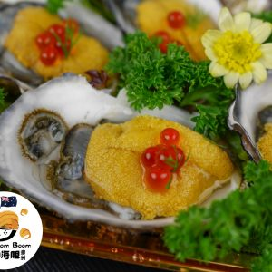 Oysters with Ikura & Australia Sea Urchin