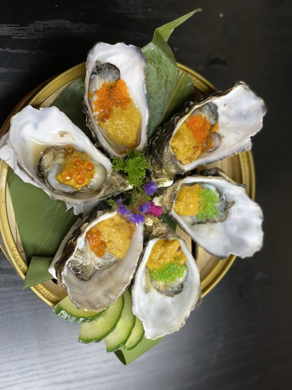 Oysters Urchin with Triple Caviar